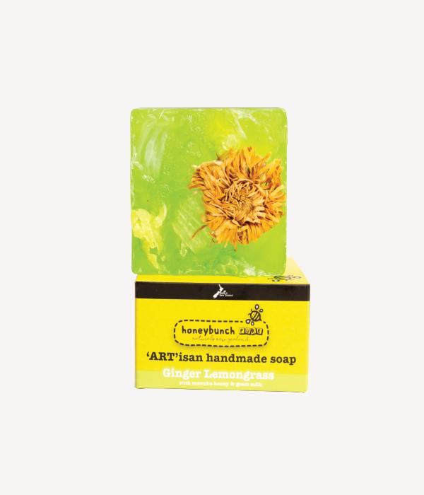 Artisan soap manuka honey with manuka ginger lemongrass honey bunch naturals