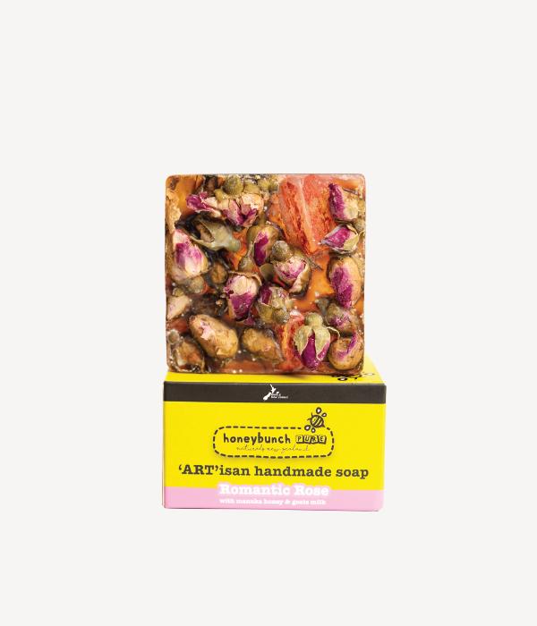Artisan soap manuka honey with romantic rose honey bunch naturals